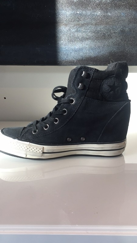 converse compensee blanche femme